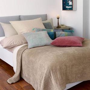 Samtquilt Tabacco - Beige/Creme - 100 % Baumwolle - Tagesdecken & Quilts - Überwürfe & Sofaüberwürfe