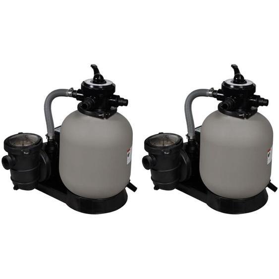 Vidaxl - Sandfilterpumpen 2 Stk. 600 W 17.000 L/h