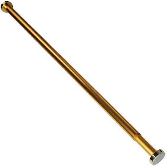 Sanilo Klemmstange Gold, ausziehbar, für Duschvorhänge, Duschvorhangstange Gold 90-160cm L: 160 cm - 90 Ø 28 mm goldfarben Gardinenstangen ohne Bohren Gardinen Vorhänge