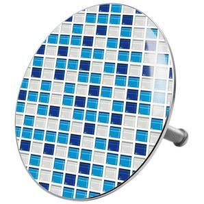 SANILO Stöpsel »Mosaik Blau«, für Badewannen und Duschen, Ø 7,2 cm