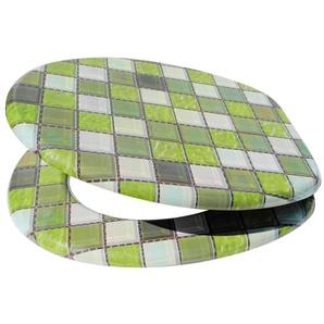 SANILO WC-Sitz »Mosaik Grün«, mit Absenkautomatik