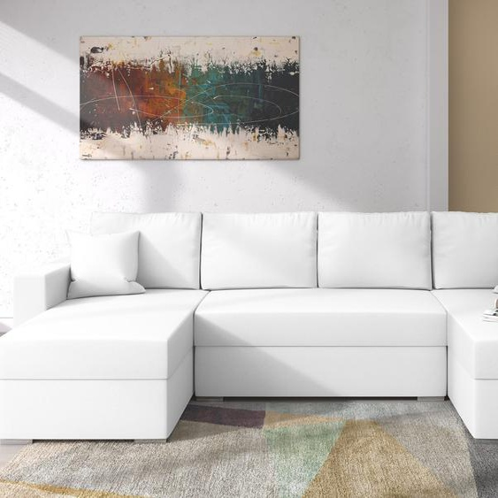 Savio Wohnlandschaft Kunstleder Weiß