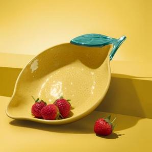 Schale  - gelb - Keramik -