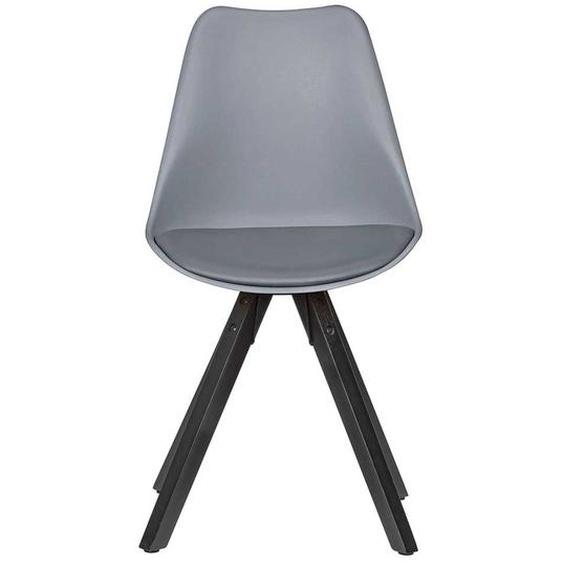Schalenstühle in Grau und Schwarz modern (2er Set)