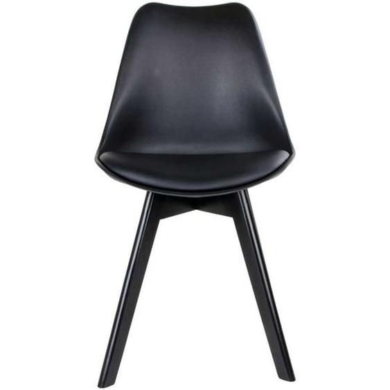 Schalenstühle in Schwarz Kunststoff Skandi Design (2er Set)