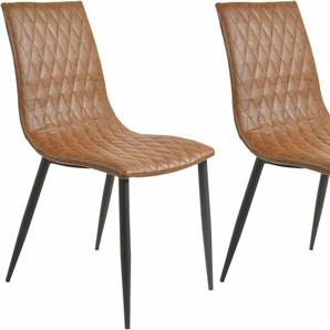 SIT Stuhl , braun, »2434«, pflegeleichtes Kunstleder, SIT-Möbel