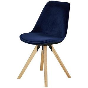 Schalenstuhl  Charles ¦ blau ¦ Maße (cm): B: 48 H: 83 T: 53 Stühle  Esszimmerstühle  Esszimmerstühle ohne Armlehnen » Höffner