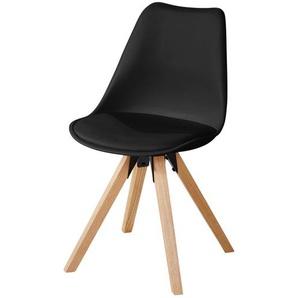 Schalenstuhl  Charles ¦ schwarz ¦ Maße (cm): B: 48 H: 83 T: 53 Stühle  Esszimmerstühle  Esszimmerstühle ohne Armlehnen » Höffner