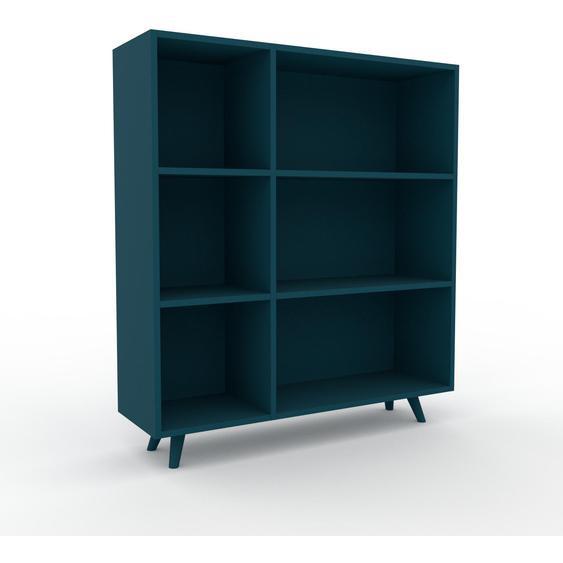 Schallplattenregal Blaugrün - Modernes Regal für Schallplatten: Hochwertige Qualität, einzigartiges Design - 116 x 130 x 35 cm, Selbst designen