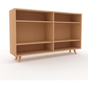 Schallplattenregal Buche, Holz - Modernes Regal für Schallplatten: Hochwertige Qualität, einzigartiges Design - 152 x 91 x 35 cm, Selbst designen