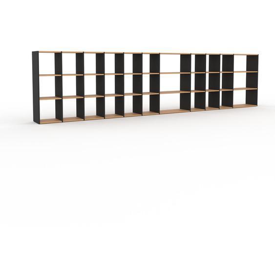Schallplattenregal Buche, Holz - Modernes Regal für Schallplatten: Hochwertige Qualität, einzigartiges Design - 498 x 118 x 35 cm, Selbst designen