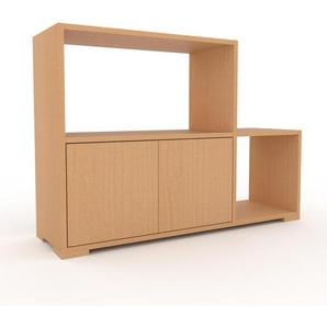 Schallplattenregal Buche - Modernes Regal für Schallplatten: Türen in Buche - 116 x 81 x 35 cm, Selbst designen