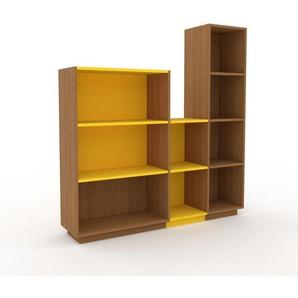 Schallplattenregal Eiche, Holz - Modernes Regal für Schallplatten: Hochwertige Qualität, einzigartiges Design - 154 x 162 x 35 cm, Selbst designen