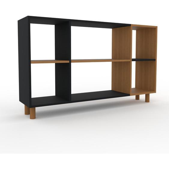 Schallplattenregal Eiche, Holz - Modernes Regal für Schallplatten: Hochwertige Qualität, einzigartiges Design - 154 x 91 x 35 cm, Selbst designen