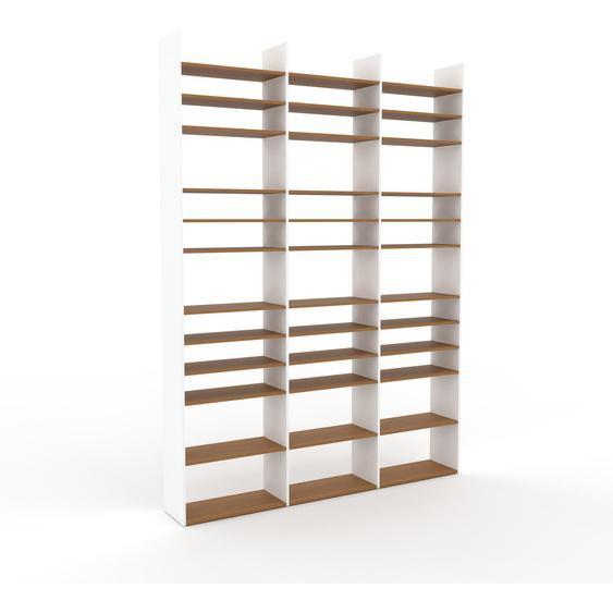 Schallplattenregal Eiche, Holz - Modernes Regal für Schallplatten: Hochwertige Qualität, einzigartiges Design - 226 x 310 x 35 cm, Selbst designen