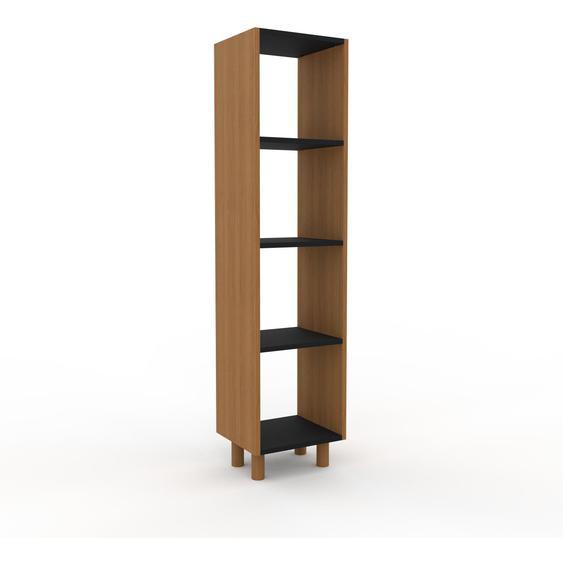 Schallplattenregal Eiche, Holz - Modernes Regal für Schallplatten: Hochwertige Qualität, einzigartiges Design - 41 x 168 x 35 cm, Selbst designen