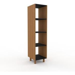 Schallplattenregal Eiche, Holz - Modernes Regal für Schallplatten: Hochwertige Qualität, einzigartiges Design - 41 x 168 x 47 cm, Selbst designen