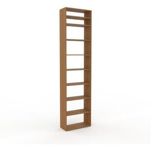 Schallplattenregal Eiche, Holz - Modernes Regal für Schallplatten: Hochwertige Qualität, einzigartiges Design - 77 x 310 x 35 cm, Selbst designen