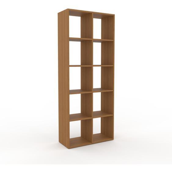 Schallplattenregal Eiche, Holz - Modernes Regal für Schallplatten: Hochwertige Qualität, einzigartiges Design - 79 x 195 x 35 cm, Selbst designen