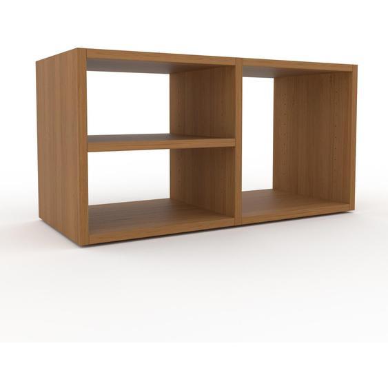Schallplattenregal Eiche, Holz - Modernes Regal für Schallplatten: Hochwertige Qualität, einzigartiges Design - 79 x 41 x 35 cm, Selbst designen