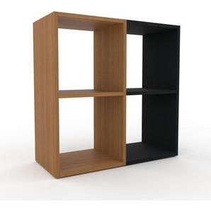Schallplattenregal Eiche, Holz - Modernes Regal für Schallplatten: Hochwertige Qualität, einzigartiges Design - 79 x 80 x 35 cm, Selbst designen