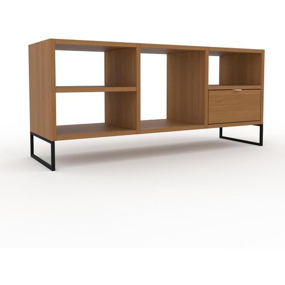 Schallplattenregal Eiche - Modernes Regal für Schallplatten: Schubladen in Eiche - 118 x 53 x 35 cm, Selbst designen