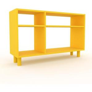 Schallplattenregal Gelb - Modernes Regal für Schallplatten: Hochwertige Qualität, einzigartiges Design - 116 x 72 x 35 cm, Selbst designen