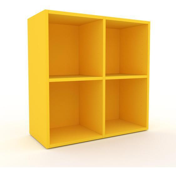 Schallplattenregal Gelb - Modernes Regal für Schallplatten: Hochwertige Qualität, einzigartiges Design - 79 x 80 x 35 cm, Selbst designen