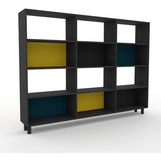 Schallplattenregal Graphitgrau - Modernes Regal für Schallplatten: Hochwertige Qualität, einzigartiges Design - 226 x 168 x 35 cm, Selbst designen