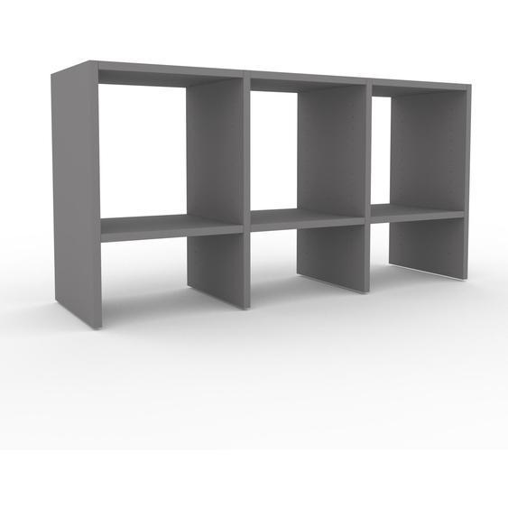 Schallplattenregal Grau - Modernes Regal für Schallplatten: Hochwertige Qualität, einzigartiges Design - 118 x 61 x 35 cm, Selbst designen