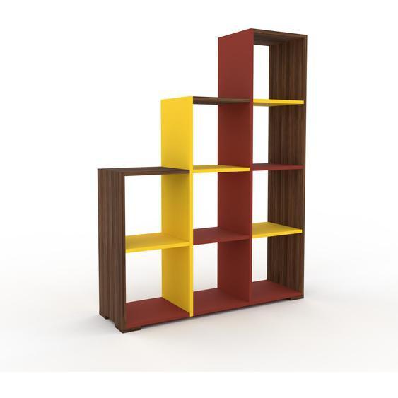 Schallplattenregal Nussbaum, Holz - Modernes Regal für Schallplatten: Hochwertige Qualität, einzigartiges Design - 118 x 158 x 35 cm, Selbst designen