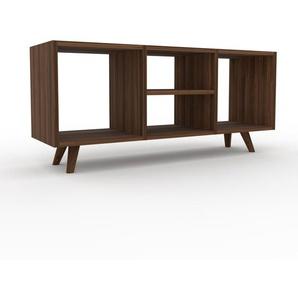 Schallplattenregal Nussbaum, Holz - Modernes Regal für Schallplatten: Hochwertige Qualität, einzigartiges Design - 118 x 53 x 35 cm, Selbst designen