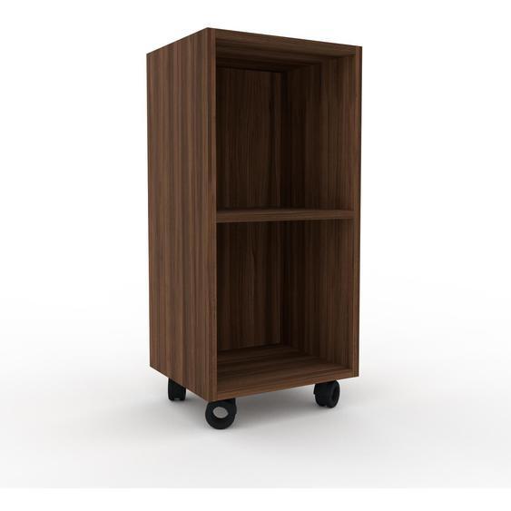 Schallplattenregal Nussbaum, Holz - Modernes Regal für Schallplatten: Hochwertige Qualität, einzigartiges Design - 41 x 87 x 35 cm, Selbst designen