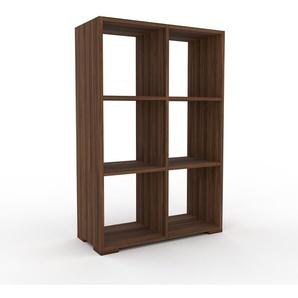 Schallplattenregal Nussbaum, Holz - Modernes Regal für Schallplatten: Hochwertige Qualität, einzigartiges Design - 79 x 120 x 35 cm, Selbst designen