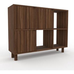 Schallplattenregal Nussbaum - Modernes Regal für Schallplatten: Türen in Nussbaum - 118 x 91 x 35 cm, Selbst designen