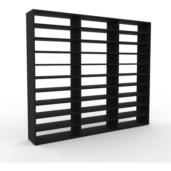 Schallplattenregal Schwarz - Modernes Regal für Schallplatten: Hochwertige Qualität, einzigartiges Design - 226 x 195 x 35 cm, Selbst designen