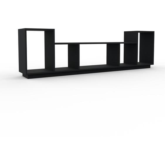 Schallplattenregal Schwarz - Modernes Regal für Schallplatten: Hochwertige Qualität, einzigartiges Design - 231 x 66 x 35 cm, Selbst designen