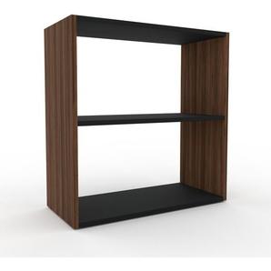 Schallplattenregal Nussbaum, Holz - Modernes Regal für Schallplatten: Hochwertige Qualität, einzigartiges Design - 77 x 80 x 35 cm, Selbst designen