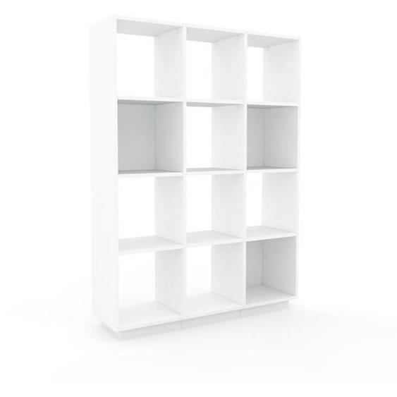 Schallplattenregal Weiß - Modernes Regal für Schallplatten: Hochwertige Qualität, einzigartiges Design - 118 x 162 x 35 cm, Selbst designen