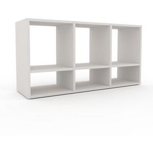 Schallplattenregal Weiß - Modernes Regal für Schallplatten: Hochwertige Qualität, einzigartiges Design - 118 x 61 x 35 cm, Selbst designen