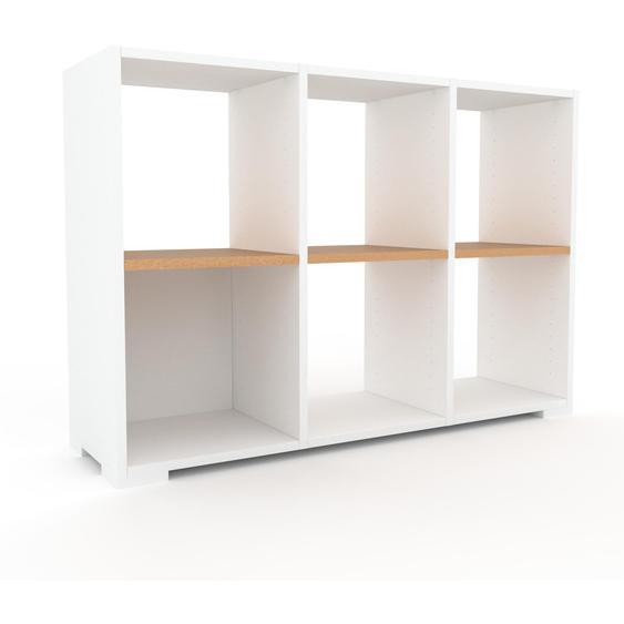Schallplattenregal Weiß - Modernes Regal für Schallplatten: Hochwertige Qualität, einzigartiges Design - 118 x 81 x 35 cm, Selbst designen