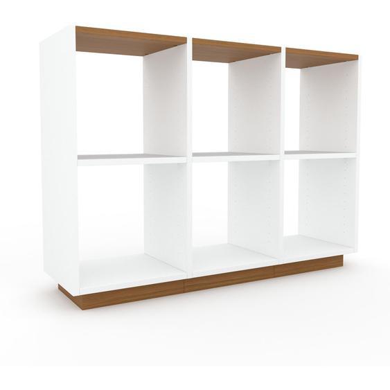 Schallplattenregal Weiß - Modernes Regal für Schallplatten: Hochwertige Qualität, einzigartiges Design - 118 x 85 x 35 cm, Selbst designen