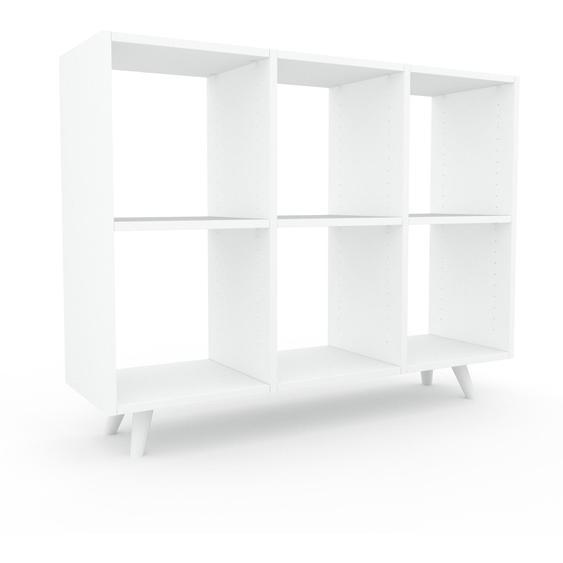 Schallplattenregal Weiß - Modernes Regal für Schallplatten: Hochwertige Qualität, einzigartiges Design - 118 x 91 x 35 cm, Selbst designen