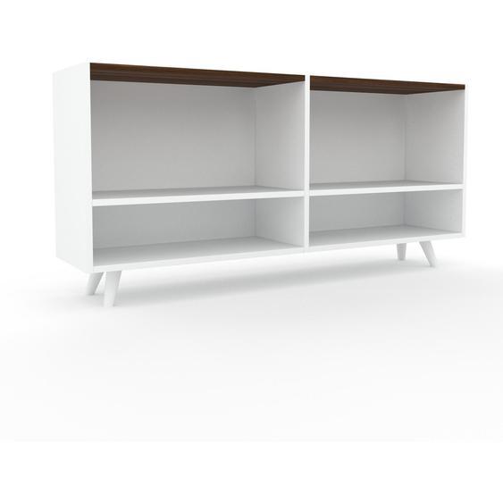 Schallplattenregal Weiß - Modernes Regal für Schallplatten: Hochwertige Qualität, einzigartiges Design - 152 x 72 x 35 cm, Selbst designen