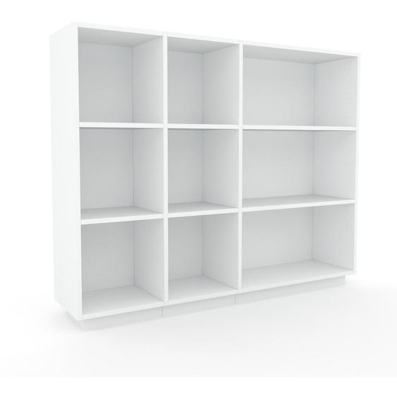 Schallplattenregal Weiß - Modernes Regal für Schallplatten: Hochwertige Qualität, einzigartiges Design - 154 x 124 x 35 cm, Selbst designen