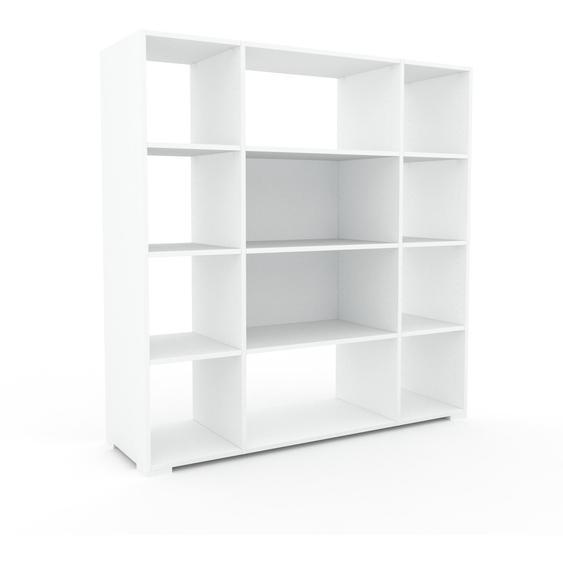 Schallplattenregal Weiß - Modernes Regal für Schallplatten: Hochwertige Qualität, einzigartiges Design - 154 x 158 x 47 cm, Selbst designen