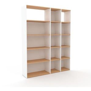 Schallplattenregal Weiß - Modernes Regal für Schallplatten: Hochwertige Qualität, einzigartiges Design - 154 x 195 x 35 cm, Selbst designen