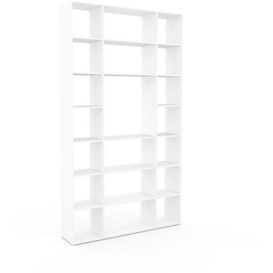 Schallplattenregal Weiß - Modernes Regal für Schallplatten: Hochwertige Qualität, einzigartiges Design - 154 x 272 x 35 cm, Selbst designen