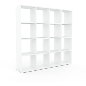 Schallplattenregal Weiß - Modernes Regal für Schallplatten: Hochwertige Qualität, einzigartiges Design - 156 x 157 x 35 cm, Selbst designen