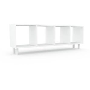 Schallplattenregal Weiß - Modernes Regal für Schallplatten: Hochwertige Qualität, einzigartiges Design - 156 x 53 x 35 cm, Selbst designen